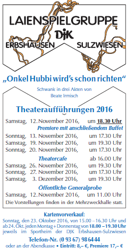 Theater-Flyer 2016